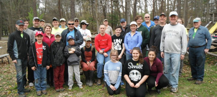 Volunteers in Perry Hall plant trees to improve water quality and benefit wildlife